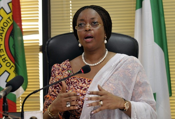 Nigeria's Minister of Petroleum Diezani Allison-Madueke speaks at a media briefing on a new gas price regime in the capital of Abuja